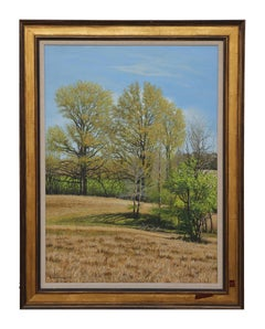 Naturalistic Texas Landscape Painting with Trees