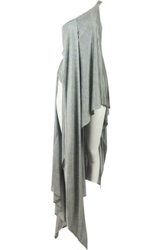 Anthony Vacarello Draped Asymmetric Satin Jersey Dress