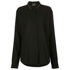 Anthony Vaccarello Black Classical Shirt With Stud Collar