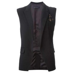 Anthony Vaccarello Pinned Anchor Emblem Vest