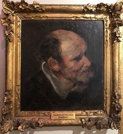 Stunning 17th Century Oil Painting - Study of a Head of a Man