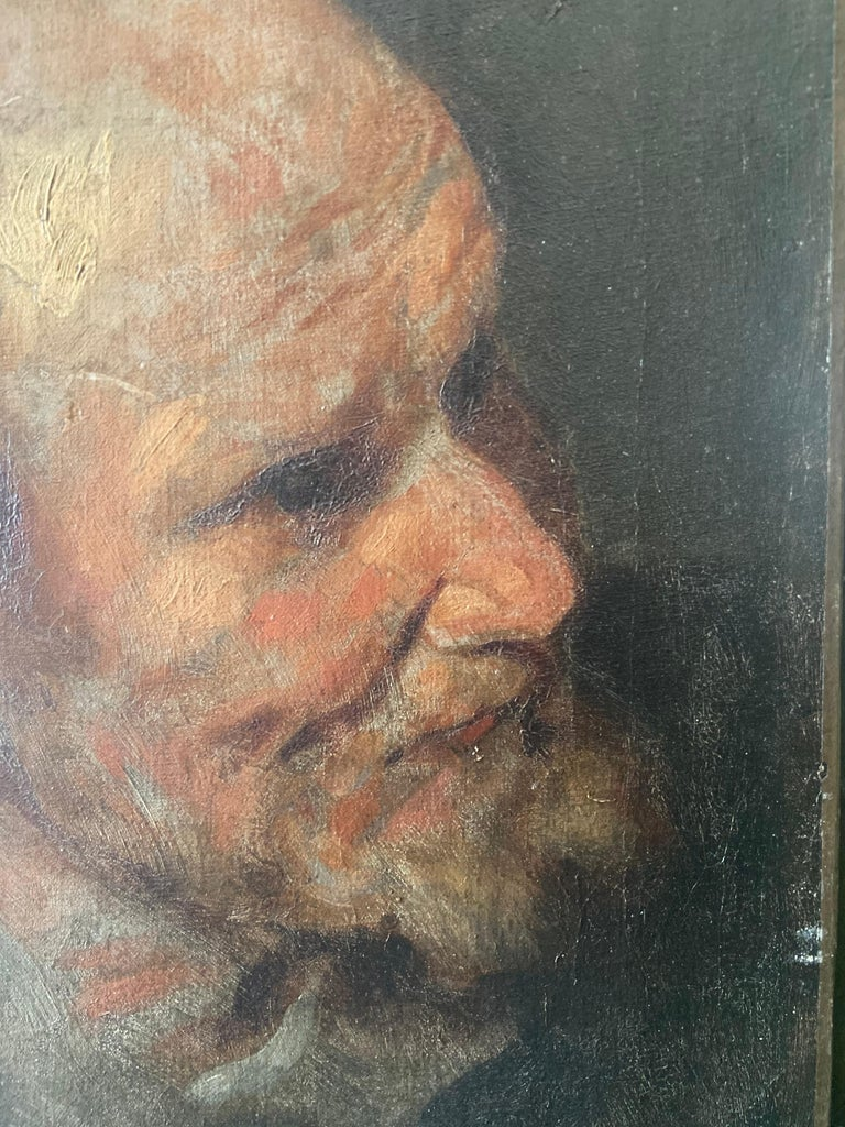 Stunning 17th Century Oil Painting - Study of a Head of a Man For Sale 2