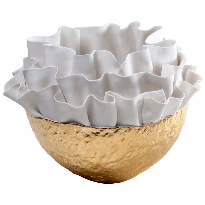 Anthozoa Gold Bowl by Fos Ceramiche
