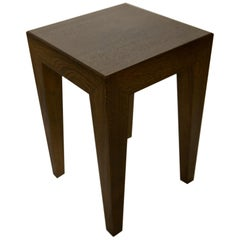 Anthracite Solid Oak Side Table