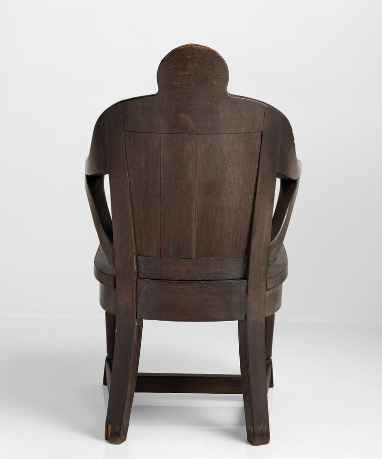 Oak Anthropomorphism Chairs by J.B. Vansciver Co For Sale