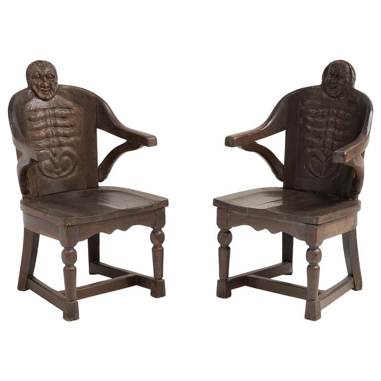 Anthropomorphism Chairs by J.B. Vansciver Co For Sale