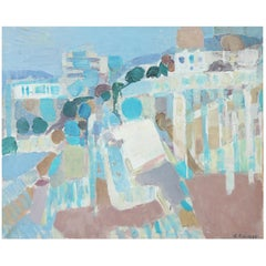 """Antibes"" Oil on Canvas by G. Bolin"