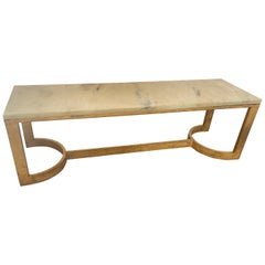 Antica Collection Fabricated Iron and Marble Coffee Table