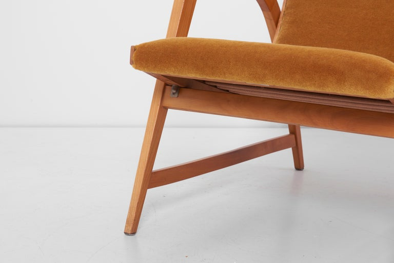 Antimott Lounge Chair by Wilhelm Knoll in Mohair Fabric, Germany, 1950s For Sale 5
