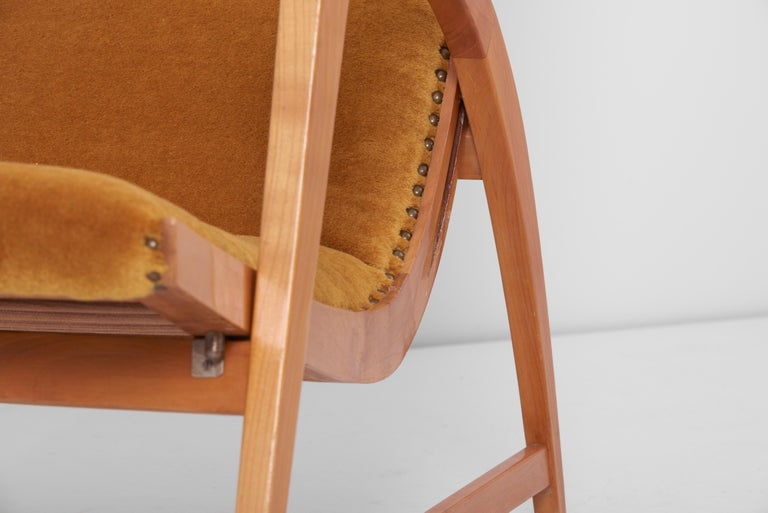 Antimott Lounge Chair by Wilhelm Knoll in Mohair Fabric, Germany, 1950s For Sale 6