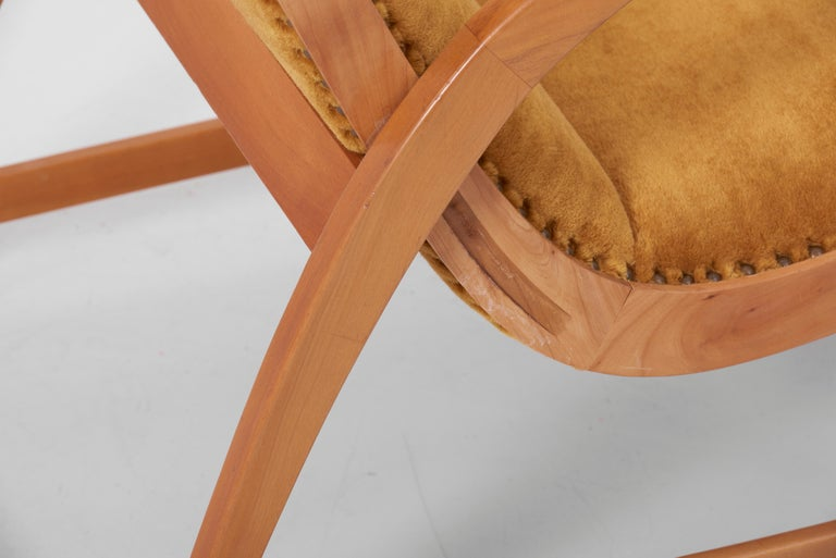 Antimott Lounge Chair by Wilhelm Knoll in Mohair Fabric, Germany, 1950s For Sale 7
