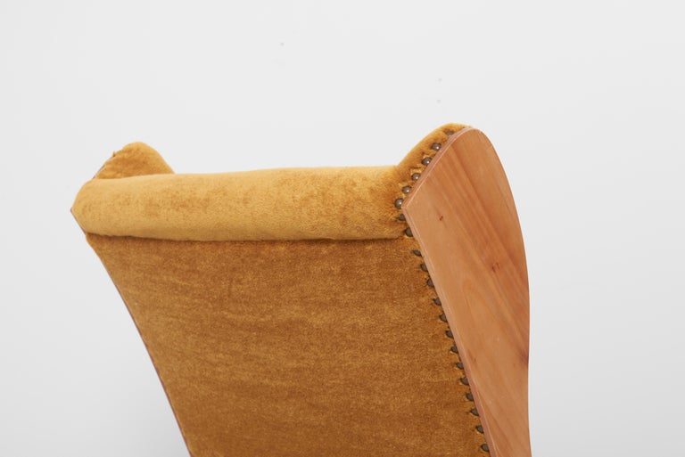 Antimott Lounge Chair by Wilhelm Knoll in Mohair Fabric, Germany, 1950s For Sale 8