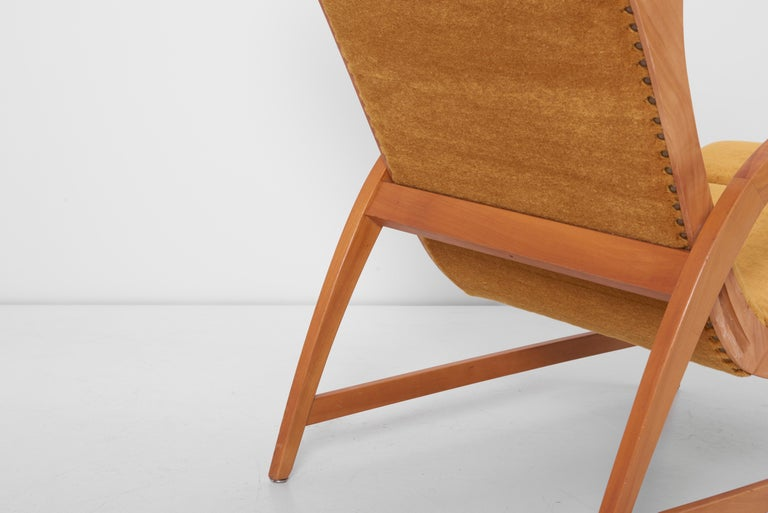 Antimott Lounge Chair by Wilhelm Knoll in Mohair Fabric, Germany, 1950s For Sale 9
