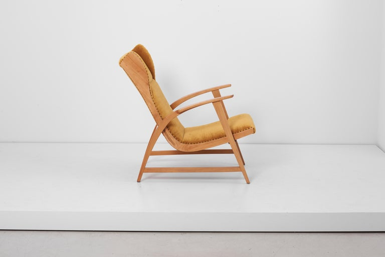 Antimott Lounge Chair by Wilhelm Knoll in Mohair Fabric, Germany, 1950s In Excellent Condition For Sale In Berlin, DE