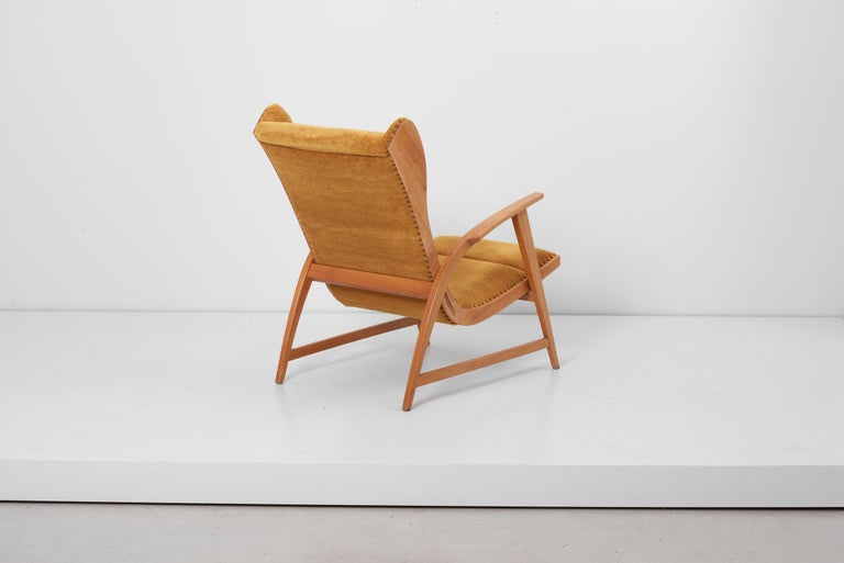 20th Century Antimott Lounge Chair by Wilhelm Knoll in Mohair Fabric, Germany, 1950s For Sale