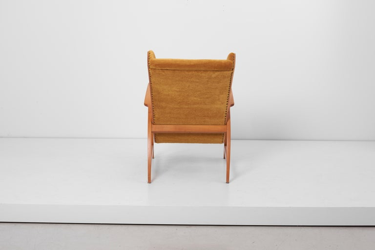 Antimott Lounge Chair by Wilhelm Knoll in Mohair Fabric, Germany, 1950s For Sale 1