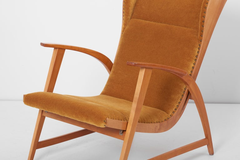Antimott Lounge Chair by Wilhelm Knoll in Mohair Fabric, Germany, 1950s For Sale 2
