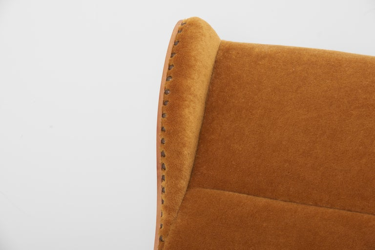Antimott Lounge Chair by Wilhelm Knoll in Mohair Fabric, Germany, 1950s For Sale 3