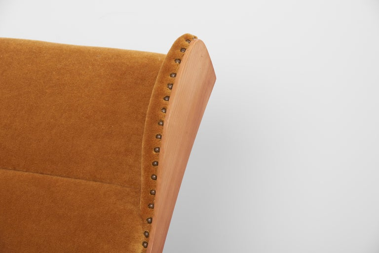 Antimott Lounge Chair by Wilhelm Knoll in Mohair Fabric, Germany, 1950s For Sale 4