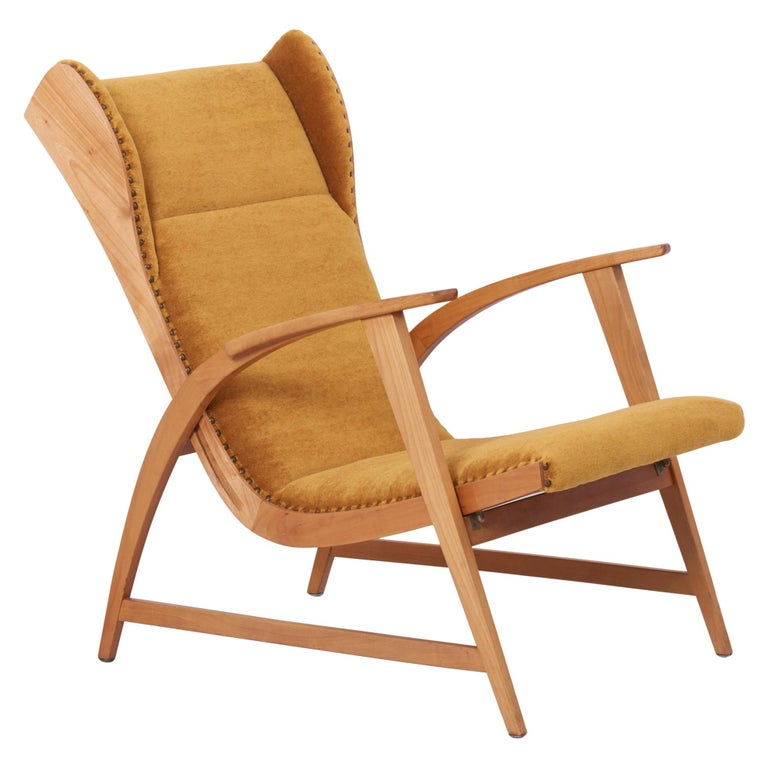 Antimott Lounge Chair by Wilhelm Knoll in Mohair Fabric, Germany, 1950s For Sale