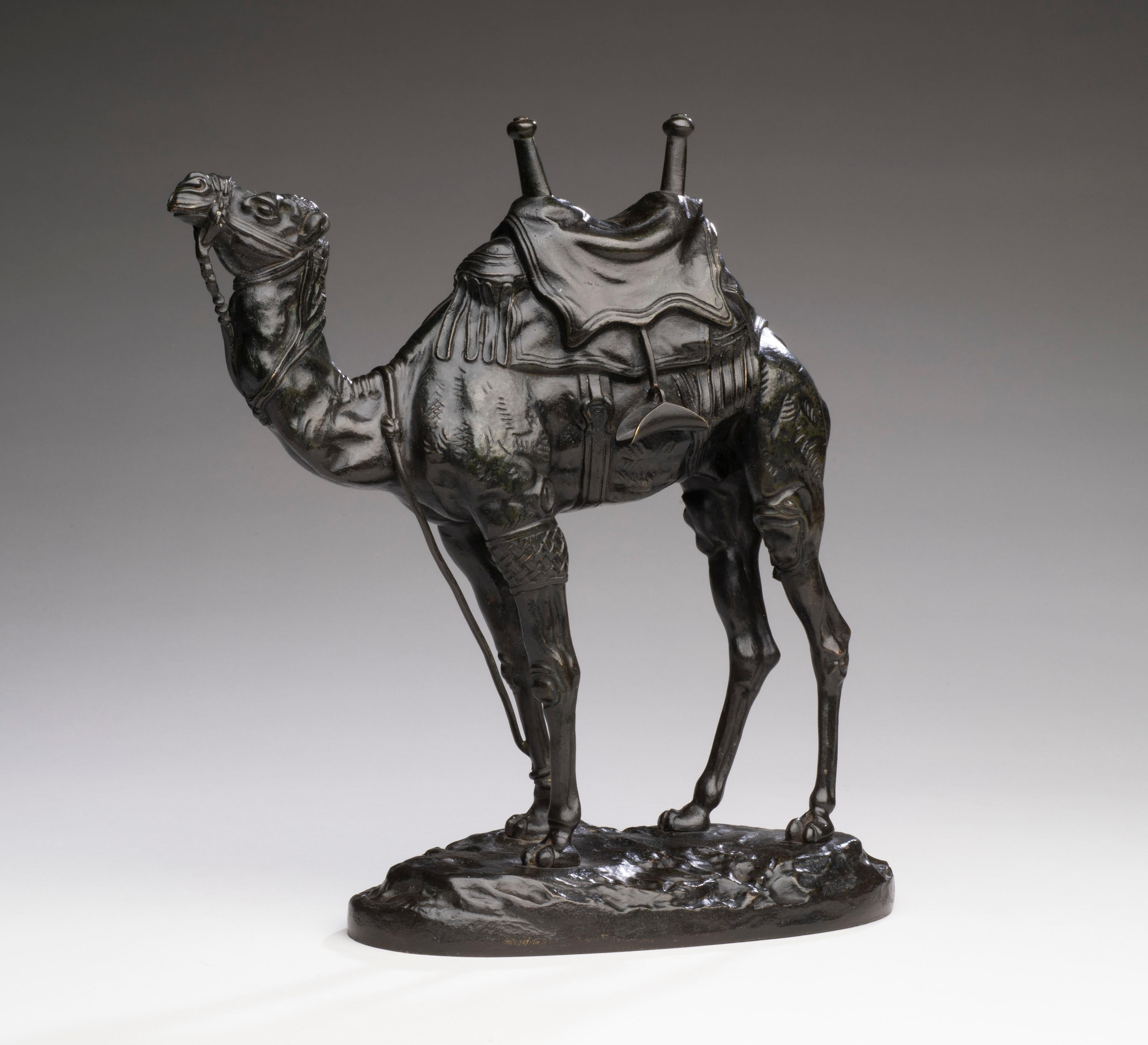 Bronze Model of an Egyptian Dromedary Camel by Antoine-Louis Barye circa 1860's