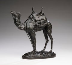 Bronze Model of an Egyptian Dromedary Camel by Antoine-Louis Barye circa 1860's