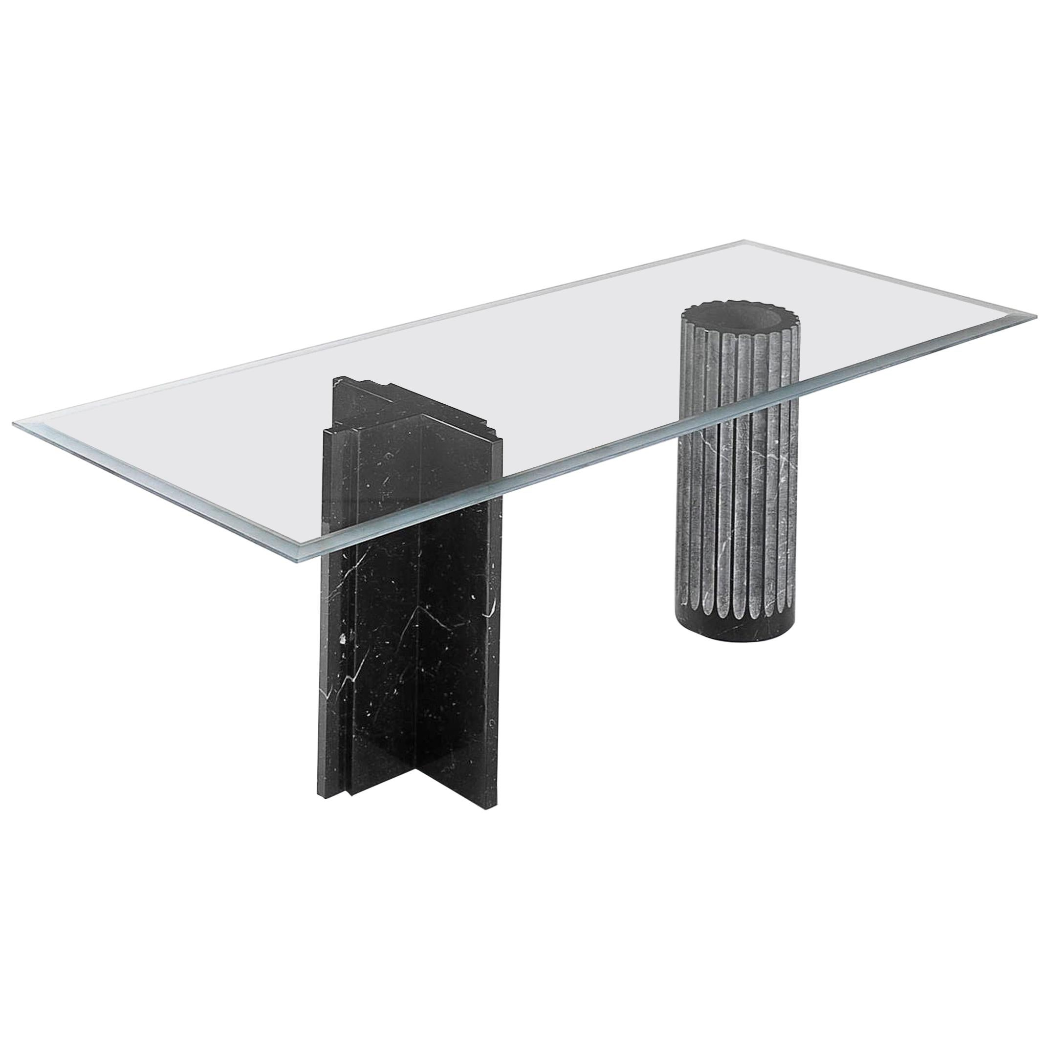 'Antiquaria' Dining Table in Marble by Adolfo Natalini