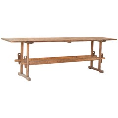 Antique Pine Farm Trestle Table