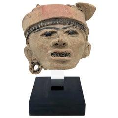 Antique 100 B.C.-800 A.C. Mexico Remojadas Culture Warrior Terracotta Sculpture