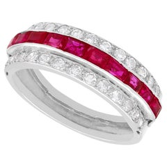 Antique 1.06Ct Ruby Diamond Platinum Ring, Circa 1890