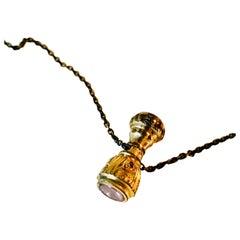 Antique 10k Gold, Georgian Mechanical Pencil Top, Necklace
