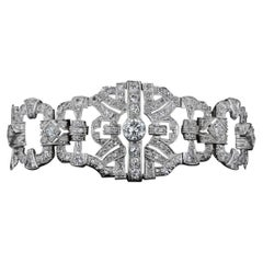 Antique 12.00 Carat Diamond Link Bracelet