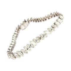 Antique 13 Carat Marquise Diamond and Platinum Tennis Bracelet