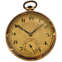 Antique 14 Karat Gold and Enamel Dress / Pocket Watch