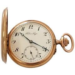 Antique 14 Karat Gold Full Hunter Pocket Watch