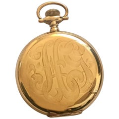 Antique 14 Karat Gold Hamilton Watch Co. Full Hunter Pocket Watch