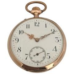 Antique 14 Karat Gold Hand winding Pocket Watch