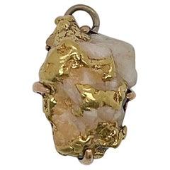 Antique 14 Karat Gold Quartz Watch Fob or Pendant for a Necklace