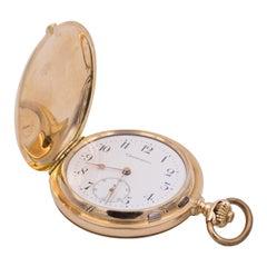Antique 14 Karat Gold Savonette Chronomètre Pocket Watch, Late 19th Century