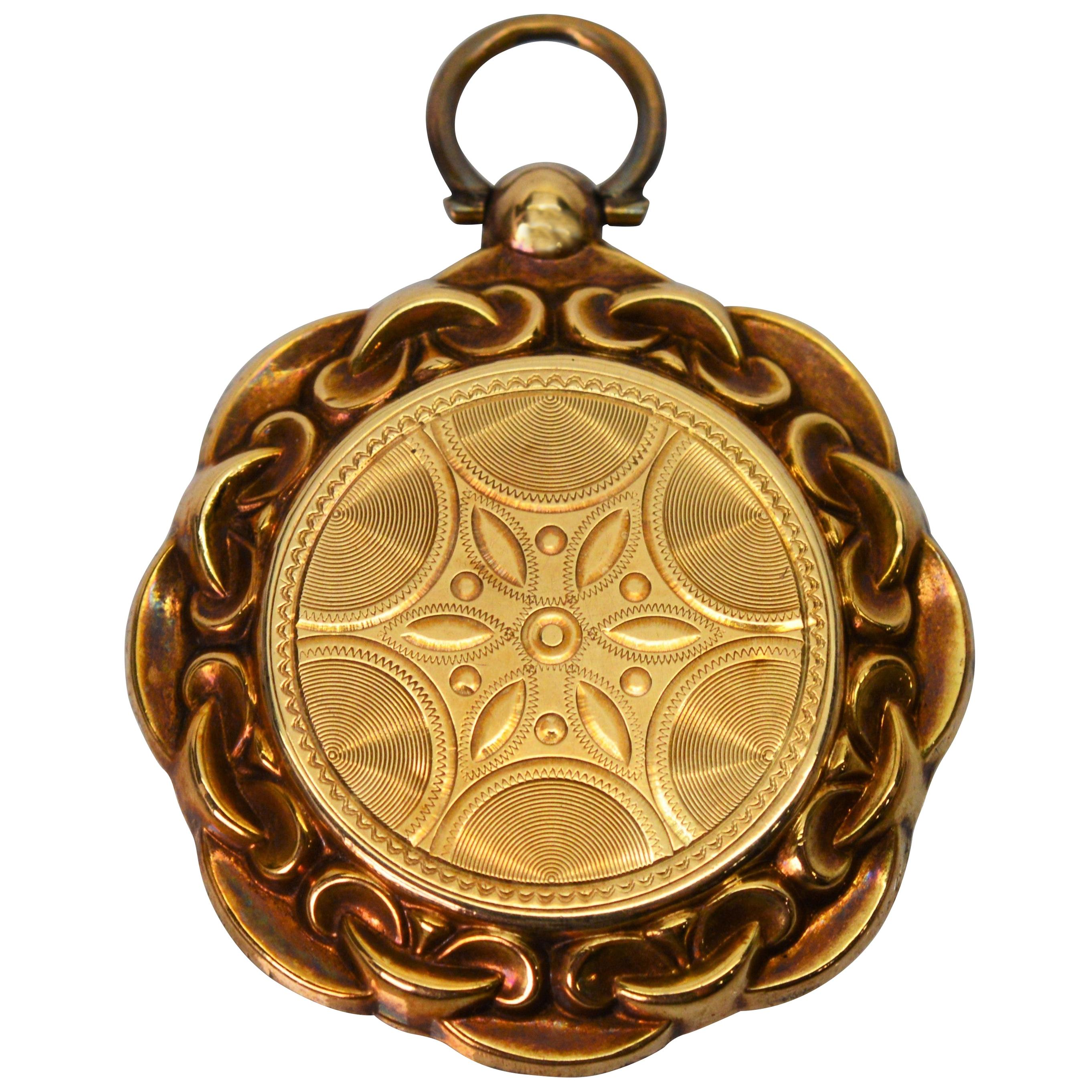 Antique 14 Karat Yellow Gold Locket Charm Pendant