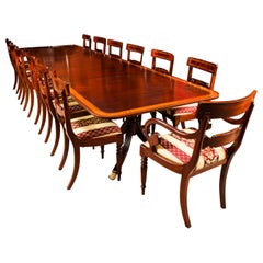 Antique Regency Metamorphic Dining Table 19th Century and 14 Chairs