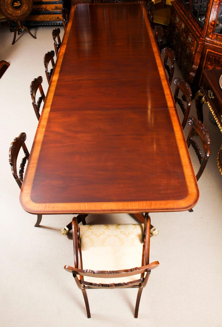 Antique Regency Revival Metamorphic Dining Table, 19th Century 8