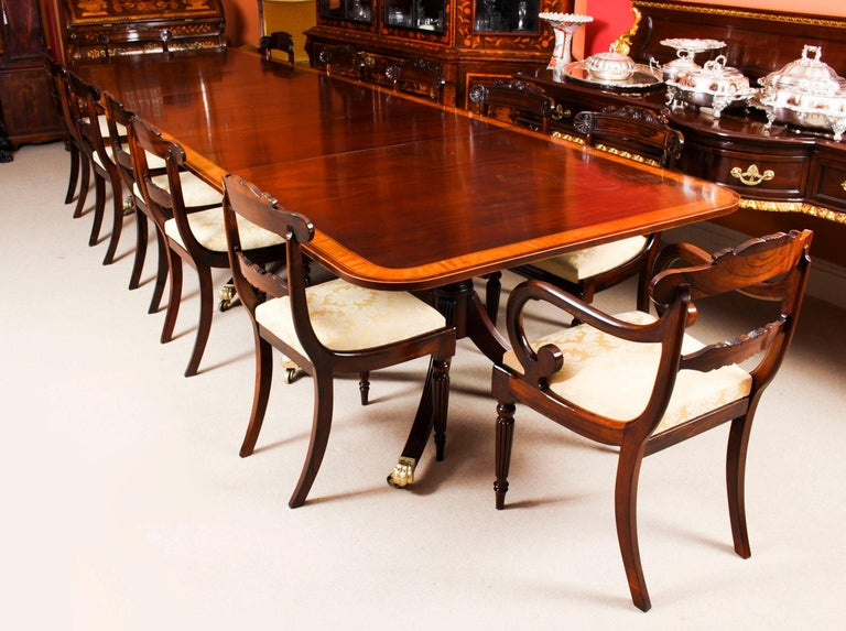 Late 19th Century Antique Regency Revival Metamorphic Dining Table, 19th Century