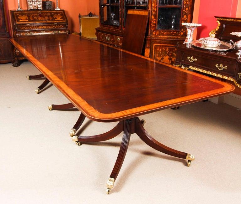 Mahogany Antique Regency Revival Metamorphic Dining Table, 19th Century
