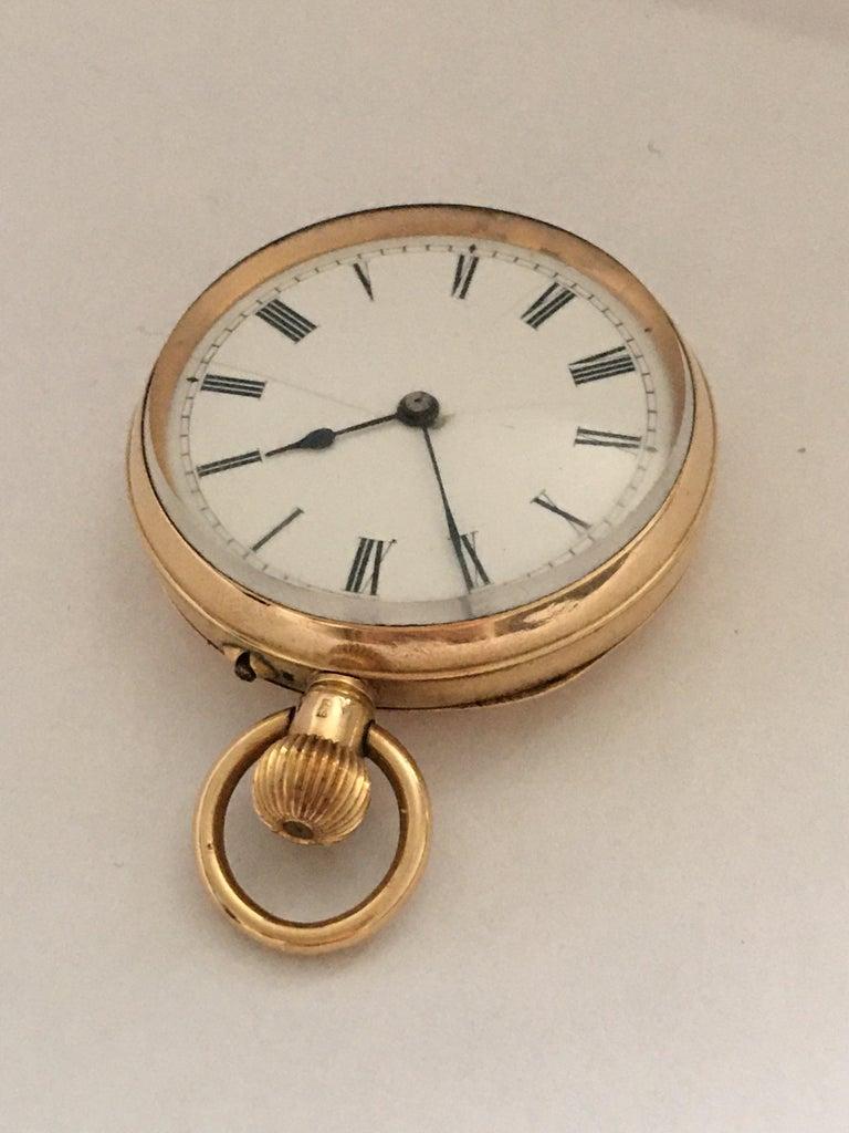 Antique 14K Gold Penlington & Batty Liverpool & Manchester Small Pocket Watch For Sale 6