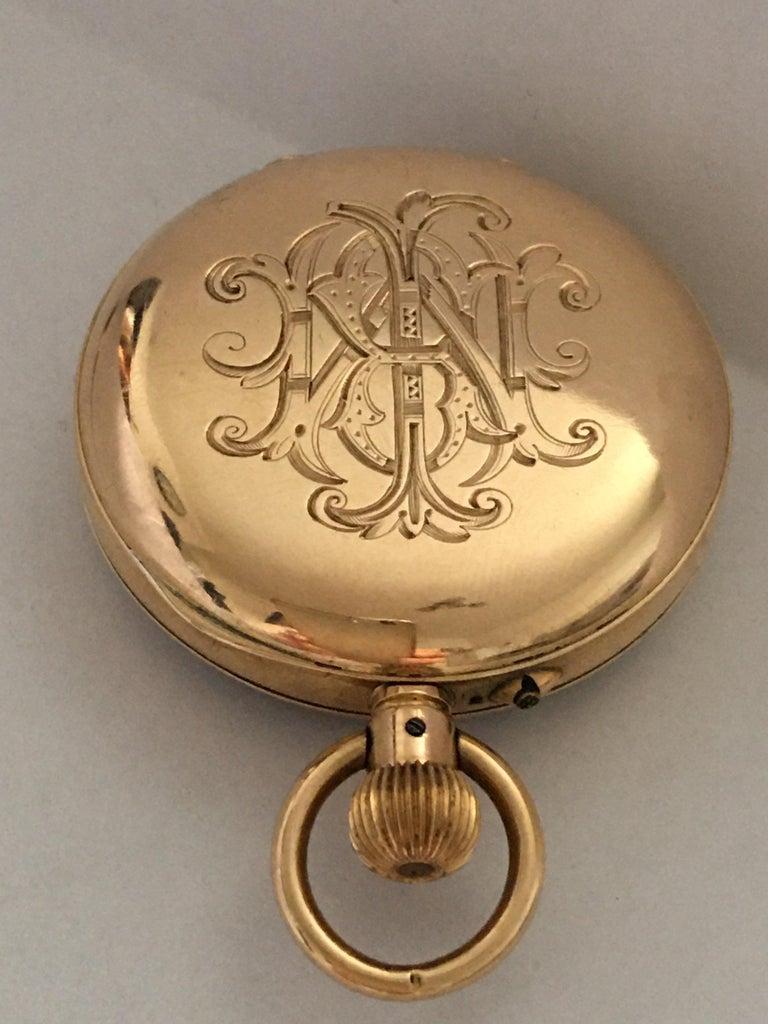 Antique 14K Gold Penlington & Batty Liverpool & Manchester Small Pocket Watch For Sale 7