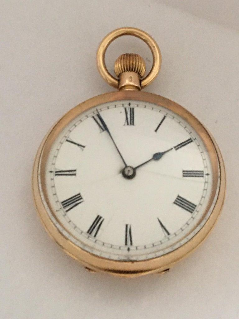 Antique 14K Gold Penlington & Batty Liverpool & Manchester Small Pocket Watch For Sale 9
