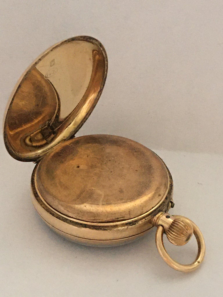 Women's or Men's Antique 14K Gold Penlington & Batty Liverpool & Manchester Small Pocket Watch For Sale