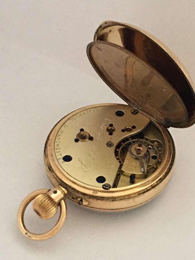 Antique 14K Gold Penlington & Batty Liverpool & Manchester Small Pocket Watch For Sale 2