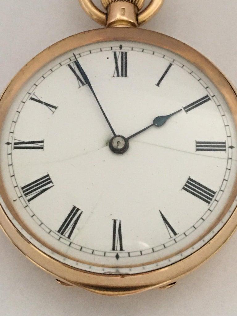 Antique 14K Gold Penlington & Batty Liverpool & Manchester Small Pocket Watch For Sale 5